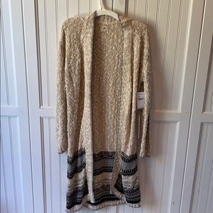 NWT O'Neill duster sweater